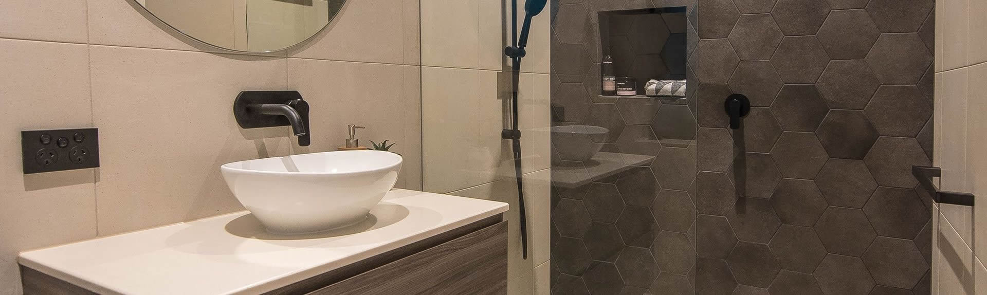 Contemporary bathroom renovation in Adelaide
