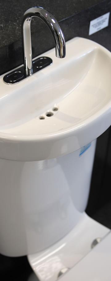 Water saving hand basin toilet combo